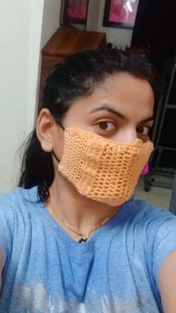 Crochet Mask  #mask #mask_india #maskgirl #crochet #crochetersofinstagram #crochetwork #crochetlove #staysafe #instagram #instagood #instadaily #instalike #creativespace #creative #creativeminds