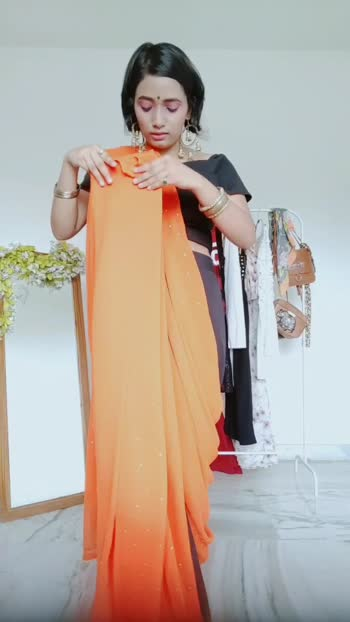 how to style your saree with Palazzo pant and crop top {part -1}#fashionquotient #fasionblogger #fashionvideos #roposo