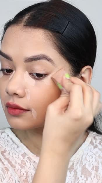 Where should you apply concealer?  #concealer #howto #roposo