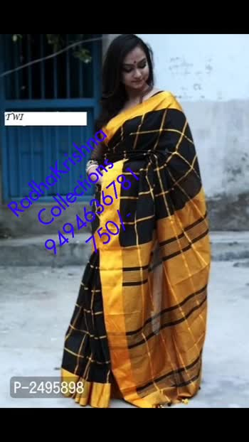 Multicolored Checked Handloom Cotton Silk Sarees  Color: Multicoloured Fabric: Cotton Silk Type: Saree with Blouse piece Style: Checked Saree Length: 5.5 (in metres) Blouse Length: 0.8 (in metres)