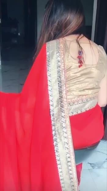 #red saree@Roposo