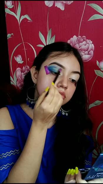 Ice cold makeup look💙 . #bluecutcrease #blueeyeshadow #blueeyelook #blueeyes #cutcrease #sfrcolor #affordablemakeup #affordablemakeupindia #beautyasisters #candyy09 #mcbeautiess1 #indianmakeupartist #guwahatimakeupartist #assamesemakeupartist #northeast #makeupideas #eyeshadowtutorial #selftaught #nykaa #makeupartistsworldwide #makeuptricks #easymakeup #glittereyeshadow #blendblendblend #eyeshadowidea #indianmakeup #makeuptransformation #makeuptransition #gradienteyeshadow