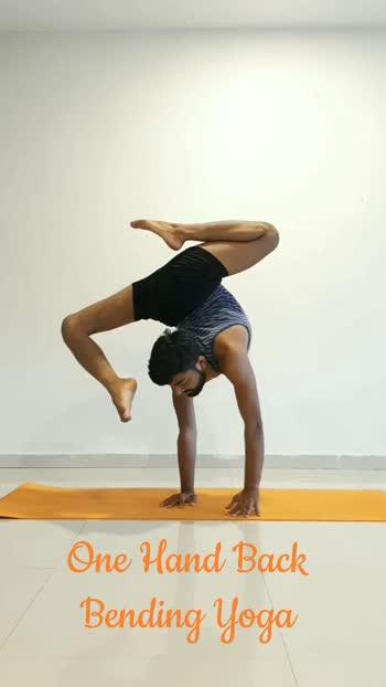 One Hand Backbending yoga