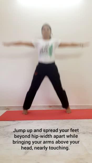 Jumping jacks #yoga #yogalove #yogafit #fit  #yogainspiration #yogafitness #yogagoals #yogapractice #yoga4roposo #roposo  #risingstaronroposo #risingstar #roposostar #yogajourney #yogablogger #fitness #fitindia  #fitnessblogger #yogaathome #yogaaddict #fitnessmotivation #fitnesslife #jumpingjack #fitnessinfluencer