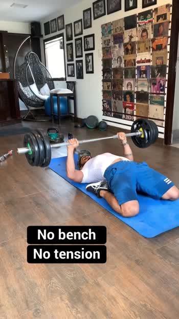 #roposo #benchpress #exerciseeveryday #fun #gabru