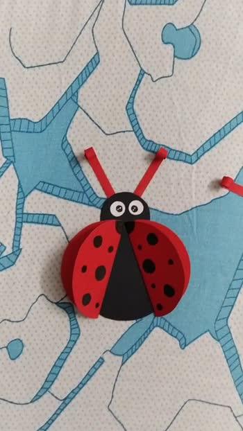 Paper Ladybug..  #risingstar #roposostar #foryou #craft #crafts #crafting #papercraft #papercrafting #telugu #telugu-roposo