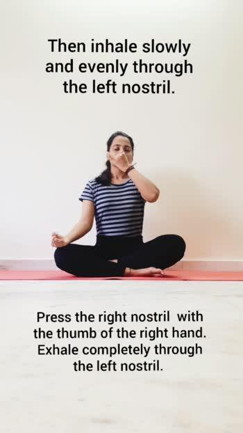 anulom - vilom (Nadi-suddhi pranayam) #yoga #pranayam #anulom-vilompranayam #anulomvilom #risingstaronroposo #roposostar #risingstar #roposo #yogablogger #yogaforlife #yogalove #yogapassion #breathingpractice #calmness #awareness #yogacommunity #yoga4roposo #yogaathome #yogaeveryday  #yogaaroundtheworld #yogacontest