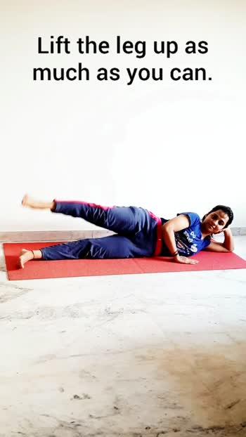 side leg raising Exercises #yoga #yogainspiration #yogalove #yogapractice #yoga4roposo #yogagirl #yogafitness #yogaathome #yogagoals #yogablogger #yogaselfpractice #yogasehihoga #risingstar #roposostar #risingstarsonroposo #roposo #exercise #yogatips #yogaforstretch #yogaforstrength #fitnessblogger #fitnessmotivation #fitness #fitfam #fitnessjourney #yogacrazy