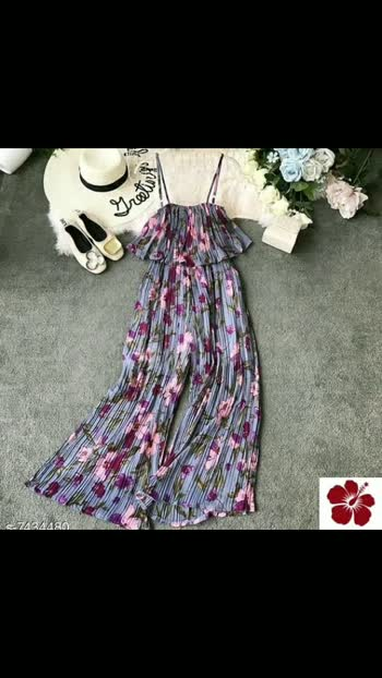 Pretty Elegant Women Jumpsuits Fabric: Chiffon #freeshippinginindia #cod #available