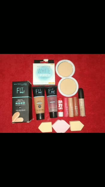 MAYBLINE FIT ME COMBO. . FIT ME FOUNDATION FIT ME PRIMER FIT ME COMPACT 2 LIP BALM 3 APK LIPSTICK 3 BEAUTY BLENDER HUDA BEAUTY CONCILER. . DM FOR PRIZE.. . FOR MORE QUARRIES FOLLOW ME ON INSTAGRAM. @thisgirl_does_it_all. . #makeuptutorial #makeupblogger #makeup #makeupproducts #makeupproductsoftheday #fitme #combopack #compact #foundation #primer #concealer