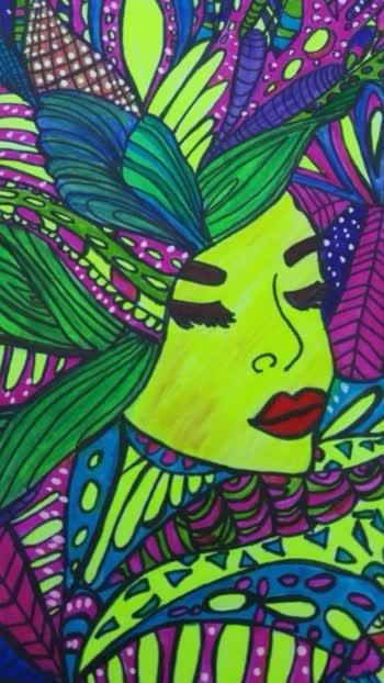 My Vibrant Girl Painting💟