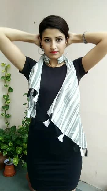 Scarf and Bangle hacks !!   #fashionblogger #stylist #stylinghacks #scarf #stole #diy #croptop #fashionquotient #foryoupage
