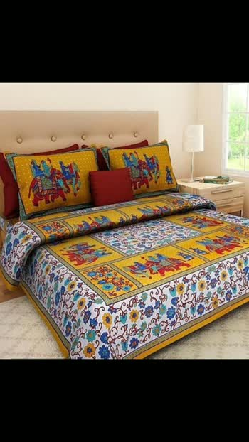 Mahesha fashion *Color*: Multicoloured  *Fabric*: Cotton  *Type*: Double  *Style*: Variable  *Design Type*: Bedsheet  *Set Content*: 1 Bedsheet + 2 Pillowcovers  *Length*: Variable  *Width*: Variable  *Returns*:  Within 7 days of delivery. No questions asked  Hi, check out this collection available at best price for you.💰💰 If you want to buy any product, message me @476 Cod available shipping free 9⃣1️⃣7️⃣3️⃣0⃣3️⃣8️⃣1️⃣2️⃣9⃣