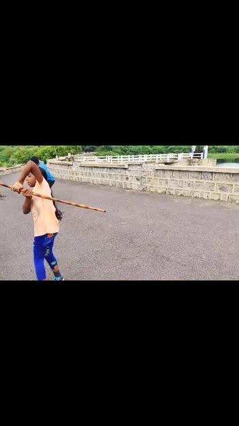 👆sister goals💪.#silambam #girls-attitude #tamil #tamilculture #thamizhachi #roposo