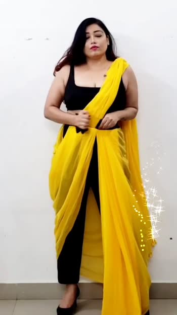 Saree on pants #followmeoninstagram  #fashionfileswithshiwangi #fashionbloggerindia  #sareebloggers  #sareestyling