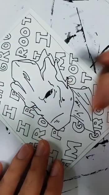 I'm Groot #cartoon #sketch #art #creativespace #creativespacechannel #marvel #marvelstudios #marvelcomics #groot #groot_lover
