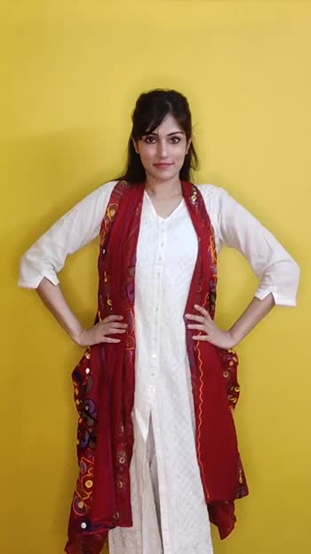 giving a punjabi twist to white kurtas #stylingideas #stylingvideo #stylingtipsandtricks