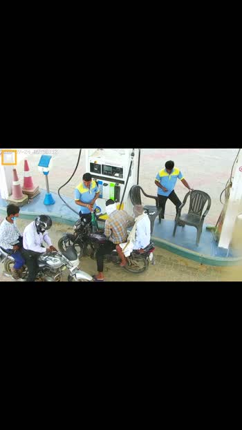 😱😱😱#fireaccident #petrolbunk