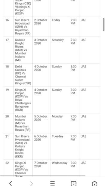 IPL 2020 FULL SCHEDULE ( INDIAN PREMIER LEAGUE 2020 ) #ipl #ipl2020 #iplfever #iplt20 #ipllovers #iplfinal #iplfun #iplcontest #iplauction #iplcricket #ipl_2020 #iplchampions #ipl-ka-craze #ipl_fever #ipltrophy #iplsong #iplking #csk #mumbaiindians #delhicapitals #kkr #rajasthanroyals #rcb #kxip #srh #mi #dc #rr #royalchallengersbangalore #kolkataknightriders #rajasthanroyals #delhicapitals #chennaisuperkings #mumbaiindians #sunrisershyderabad #kingsxipunjab #dhoni #kohli #msdhoni #viratkohli #viral #viralvideo #viralvideos #roposo #roposostar #trending #tranding #trandingvideo #trendingvideo