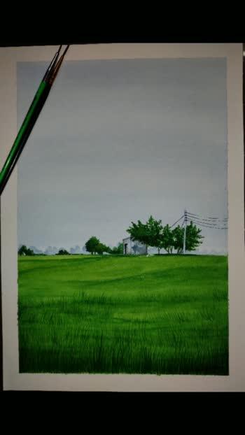 #paintings #watercolourpainting #artgallery #artlovers #paddyfield