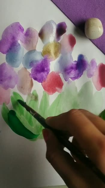 floral art trick #floral #watercolourpainting