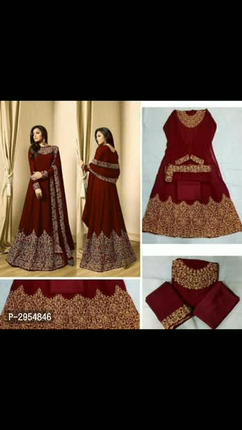Price Drop Sale on Georgette Ethnic Gowns  Color: Multicoloured Fabric: Georgette Type: Semi-Stitched Style: Embroidered Bust: 32.0 - 44.0 (in inches) Waist: - (in inches) Returns:  Within 7 days of delivery. No questions asked