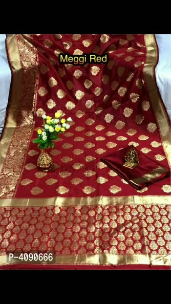 Attractive Banarasi Saree With Blouse Piece  Color: Multicoloured Fabric: Art Silk Type: Saree with Blouse piece Style: Woven Design Design Type: Bollywood Saree Length: 5.5 (in metres) Blouse Length: 0.8 (in metres) Returns:  Within 7 days of delivery. No questions asked