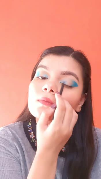 Butterfly Eyes 💙  #eyemakeuptutorial