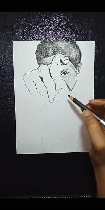 Perspective view of a 👦  Charcoal sketch  #roposostar #creative-channel