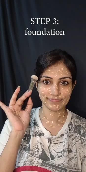 base makeup for an oily skin #makeup #makeuphack  #oilyskincareroutine