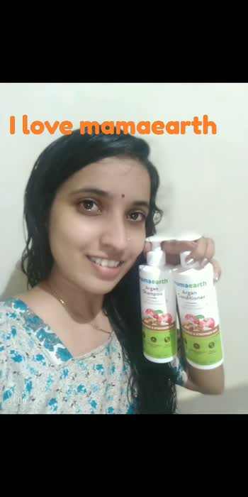 mamaearth argan shampoo and conditioner... super... #mamaearth #mamaearthskincare