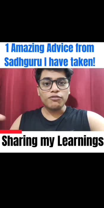 Sadhguru advice! #sadhguru #roposostar