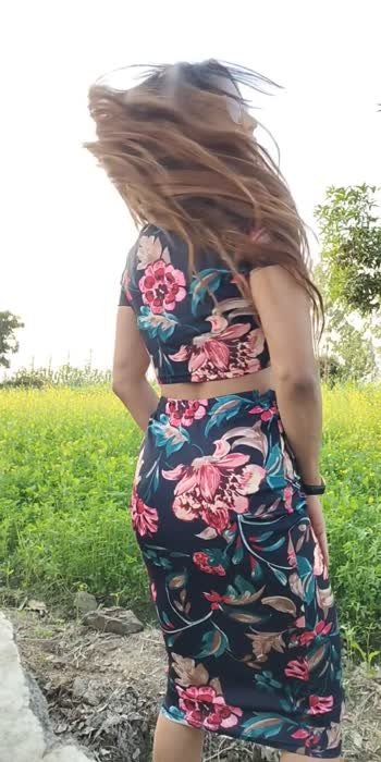 Day dress with floral print
