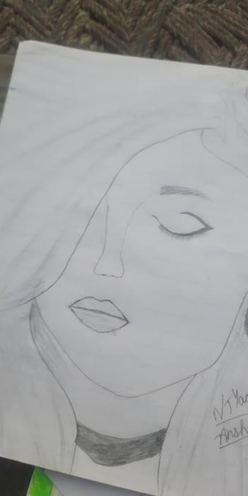 beautiful girl drawing. #drawing