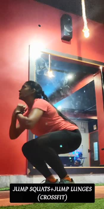 JUMP SQUATS+JUMP LUNGES (CROSSFIT) #crossfit #crossfitness #crossfitwod #crossfittraining #crossfitgirls #lungesworkout #squatsworkout #workoutmotivation #exerciseeveryday