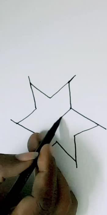 3d star..in simple way..#roposocreativespacechannel #roposodrawings #roposodrawmagic