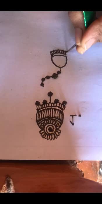 3 jumka designs in mehandi