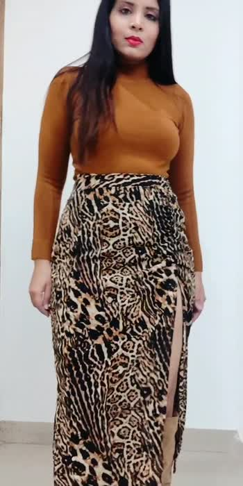 Styling Animal print skirt ! #stylingvideo #fashionvideo #winterfashion