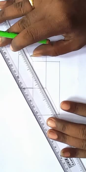 simple 3d rectangle..#roposocreativespacechannel #roposodrawings #roposodrawmagic