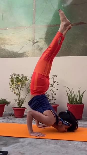 #roposo #yogagirl #shoulderstand #yogalife #yogalifestyle #yoga