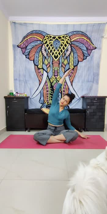 Simple and relaxing yoga flow . . . #fitness #yoga #yogaflow #fit #healthy #exercise #mask_india #creator #risingstar