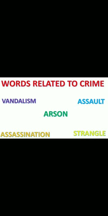 """WORDS RELATED TO CRIME - Vandalism , arson , assault , assassination . Please Visit My YouTube Channel """" VISION STUDY IQ """"   FOR MORE VIDEO  #vocabulary #vocab #englishspeaking #vocabuilding #vocabularywords #mpscexam #mpscguide #mpscmaterial #mpscmotivation #englishlesson #iasacademy #policebharti #communicationskills #ipsofficer #competitiveexam #governmentjobupdate #governmentjobexam #learnenglish #spokenword"""