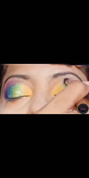 rainbow 🌈 Makeup tutorial #trendingvideo #rainbowmakeup #makeupartist #makeuptutorialforbiginners