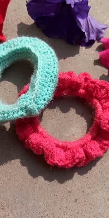 Crochet Scrunchies #crochet #scrunchie #diycrafts #diyroposo