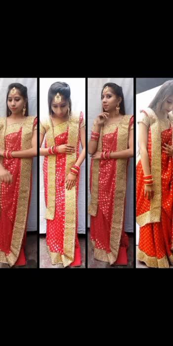 different style of Saree draping 🤗#styleindia #sareelove #sareelove #beats_channel #nwepost