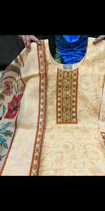 *AGC*  *Vasansi collection*  Premium digital print silk Kurti with stone work & kota duppata .  Size 38 40 42 44   *@1775/- free ship* LK