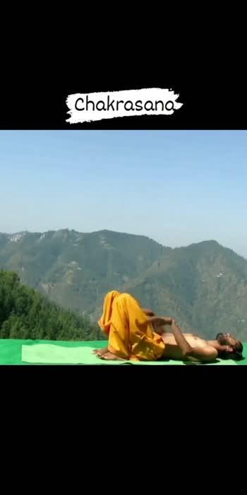 Chakrasana ❤️ #mererangmein #yoga #hathayoga #chakrasana
