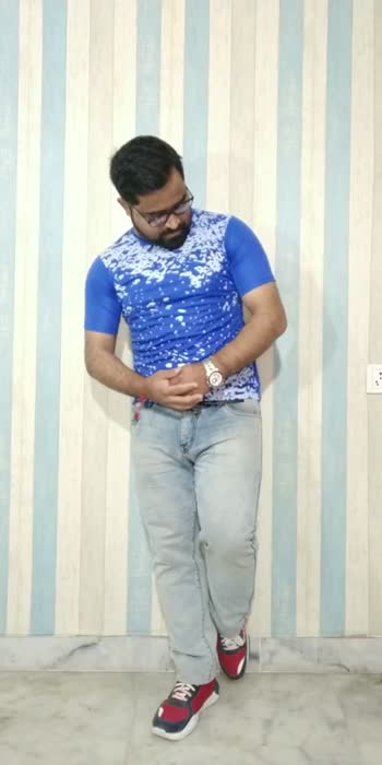 Blue Tshirt With Different Outfits #fashionquotient #fashion #fashionblogger #howtostyle