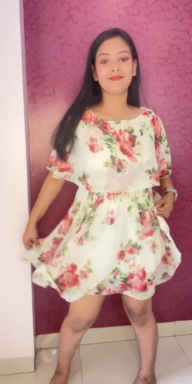 #fashion floral dress outfits ❤️🤍