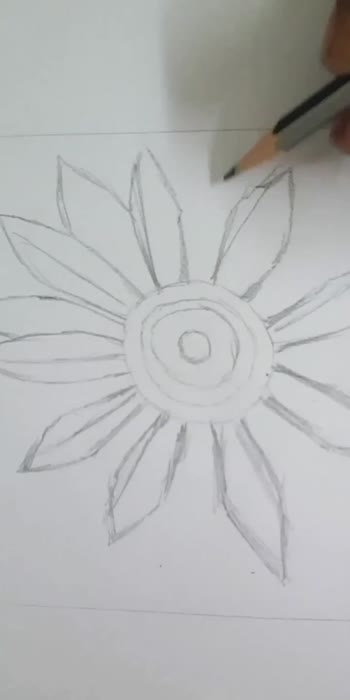 How to draw a sunflower..simpleway video1#roposocreativespacechannel #roposodrawmagic #roposodrawings